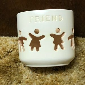 Other - Friend Ceramic Candle Holder, Brand New!